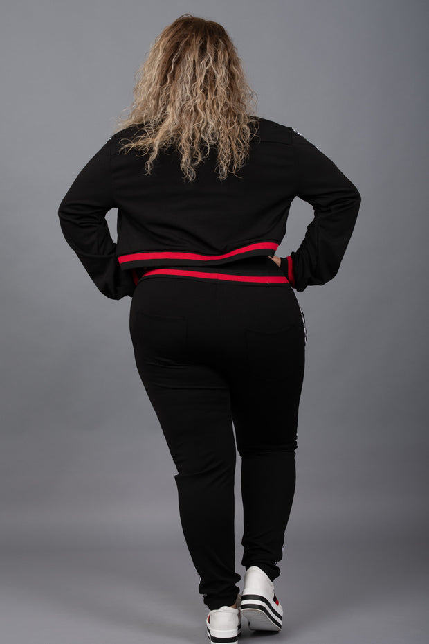 On The Right Track Jacket - Curvy