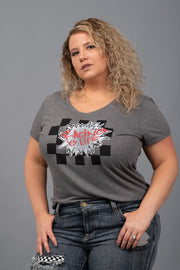 Racing Is Life Graphic Tee - Curvy
