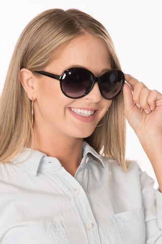 Round Sunglasses - Black