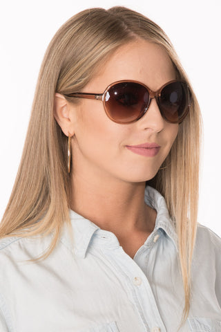 Round Sunglasses - Tan