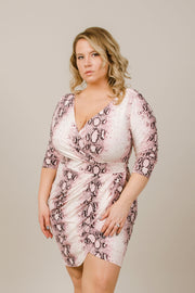 She's Wild Snakeskin Dress - Curvy