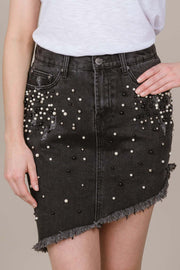 What A Stud Denim Skirt