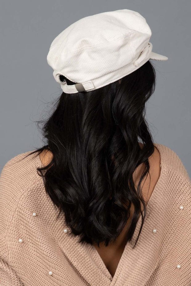 Wasting Time Baker Boy Hat Ivory