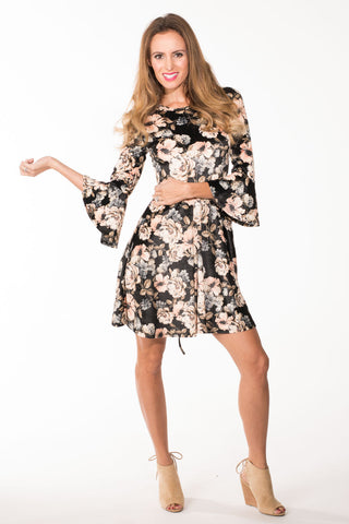 Velour Flower Dress