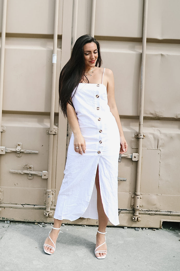 Malibu Button Down Midi Dress