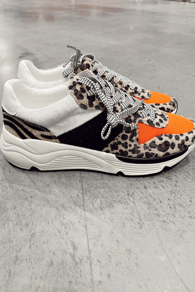 Leopard Running Sole Sneakers