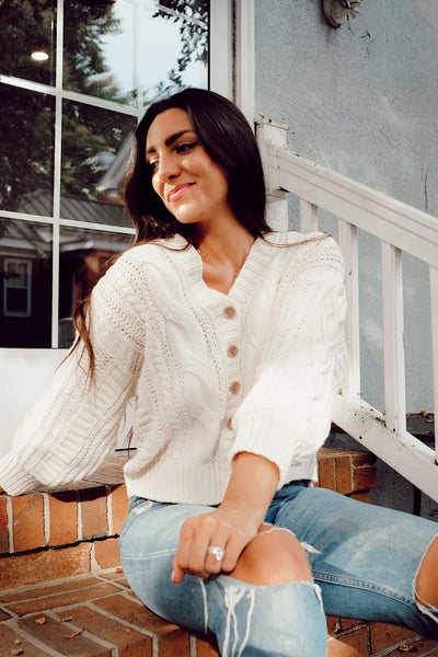 Bonfire Cropped Cardigan