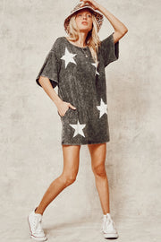 Vintage Star T-shirt Dress