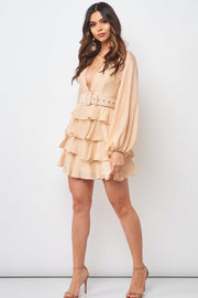Sandy Tiered Ruffle Dress