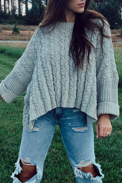 Sage Chenille Sweater