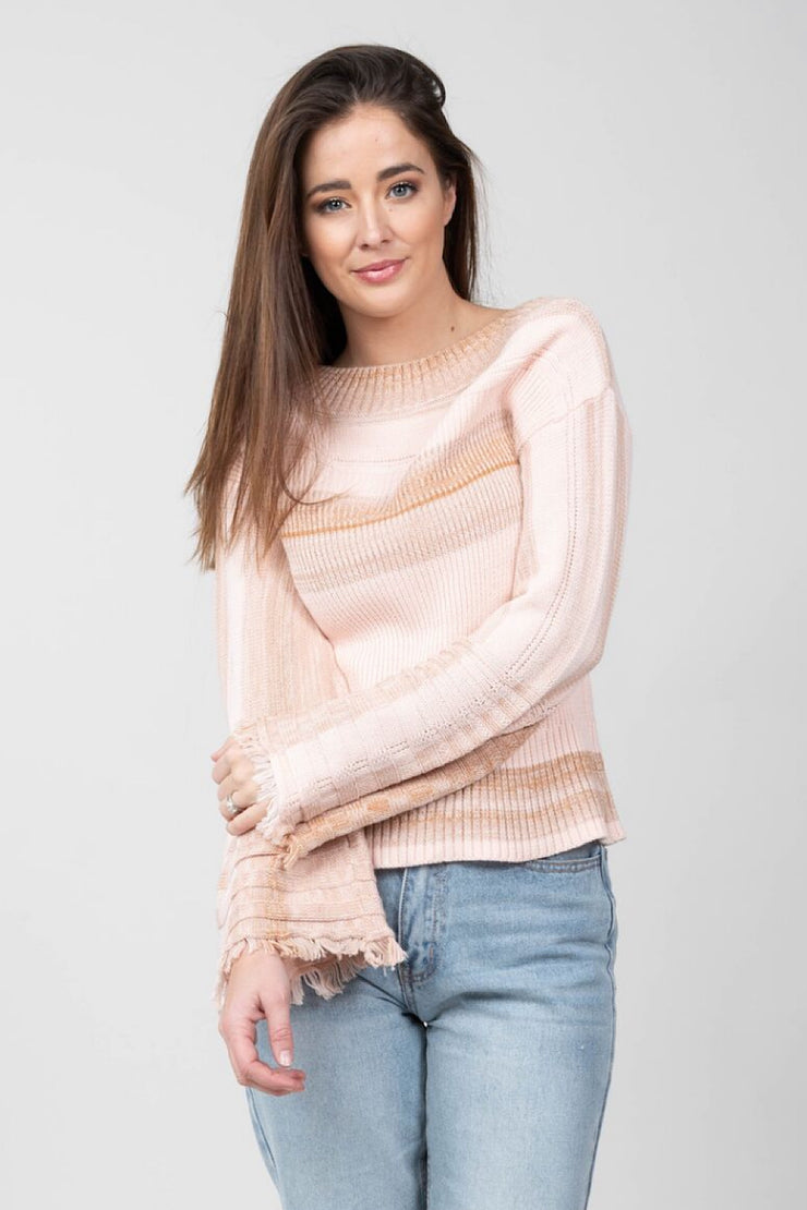Cozy in Pink Sweater