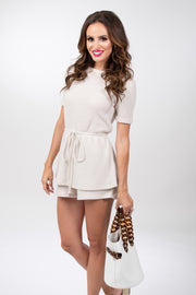No Worries Waffle Knit Romper