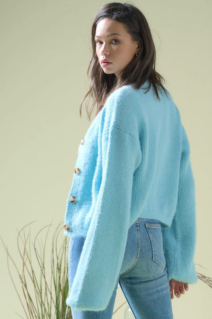 Sky Blue Cardigan Set