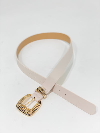 Cream and Gold Belt