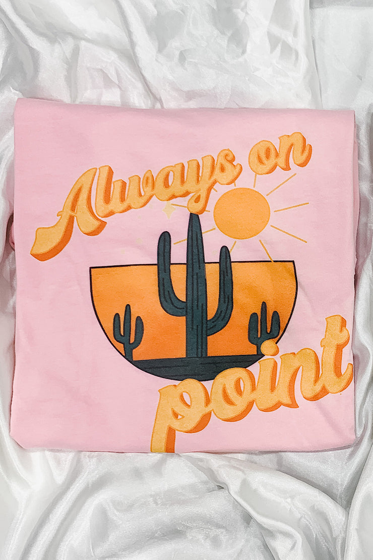 always on point boho graphic tee
