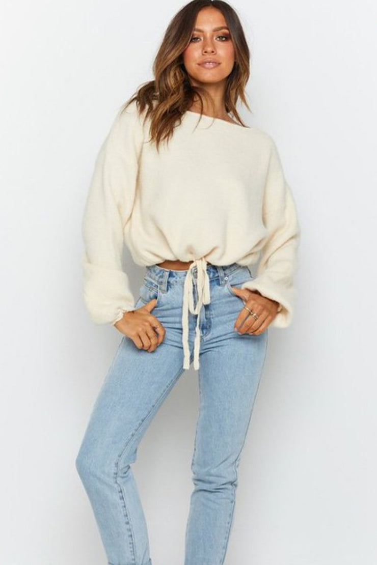Drawstring Casual Sweater