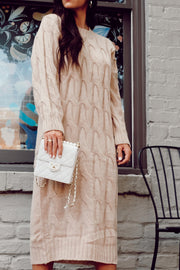 Cable Knit Sweater Dress