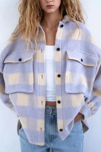 Purple Plaid Shacket