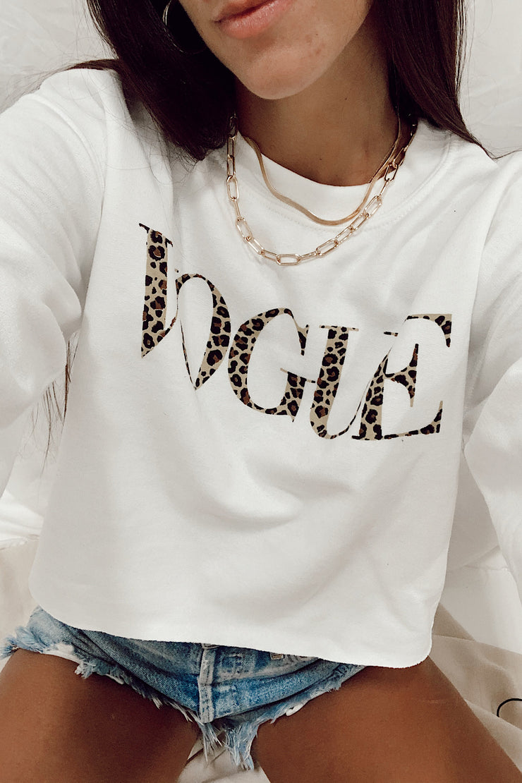 Vogue Cropped Crewneck