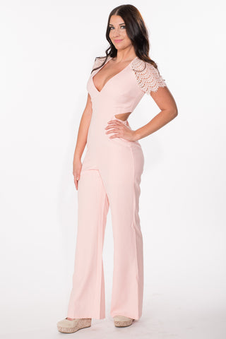 Pretty in Peach Jumpsuit