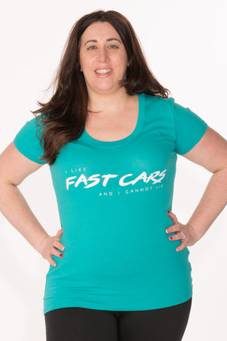 Fast Cars Tee - Plus - Teal