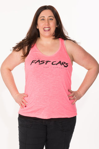Fast Cars Tank - Plus - Bright Pink
