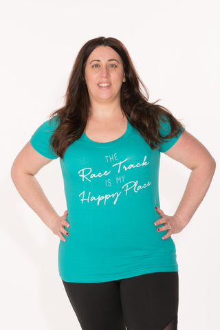 Race Track Tee - Plus - Teal