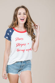 Stars, Stripes & Racing Nights Graphic Tee