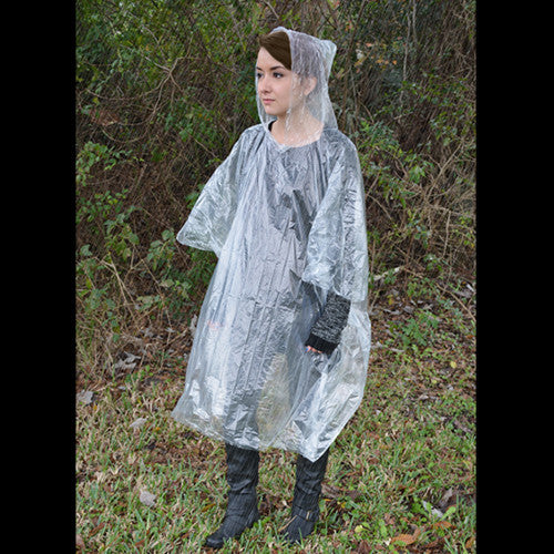 Green Supply Pocket Poncho (Gray)