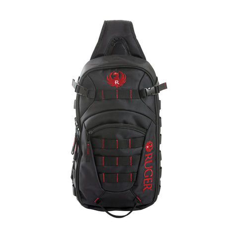 Green Supply Daypack - Ruger Glendale Sling, Black/Red