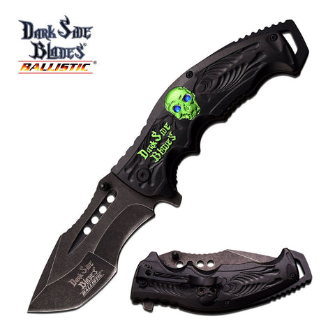 "Master Cutlery DARK SIDE BLADES SPRING ASSISTED KNIFE 4.5"" CLOSED"