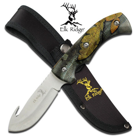 "Master Cutlery Elk Ridge ER-274 FIXED BLADE KNIFE 8.75"" OVERALL"