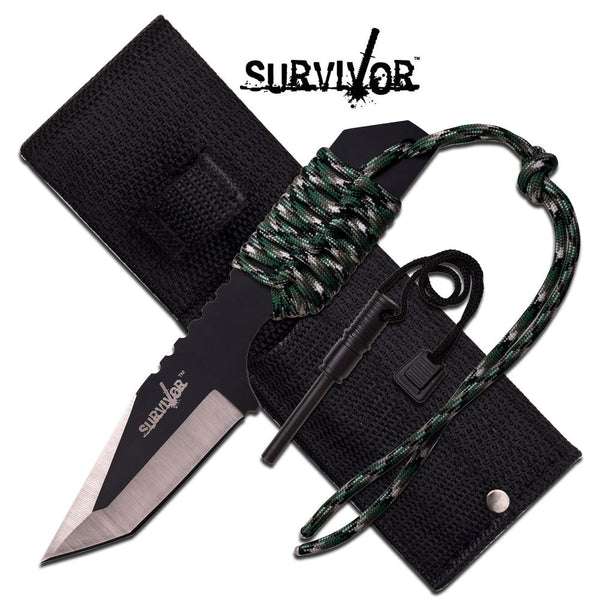 "Master Cutlery SURVIVOR FIXED BLADE KNIFE 7"" OVERALL"
