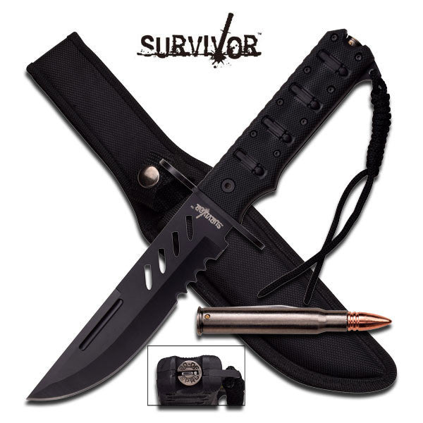 "Master Cutlery SURVIVOR HK-773 FIXED BLADE KNIFE 11.875"" OVERALL"