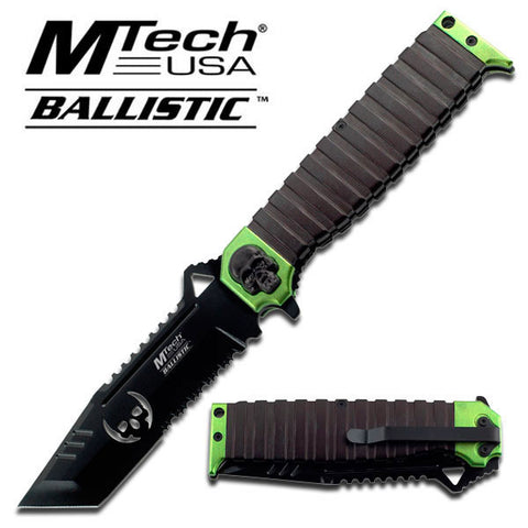 Master Cutlery MTech USA Skull SPRING ASSISTED KNIFE