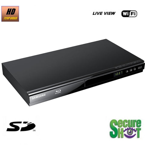 Productive Electronics Blu-Ray DVD Player Hidden Camera w/ DVR - Live View Series
