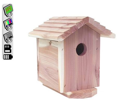 Productive Electronics LLC Cedar Birdhouse Hidden Camera with Night Vision