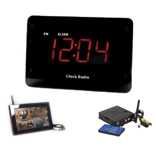 KJB Security Products, Inc. Clock Radio Night Vision Hidden Camera- Zone Shield Series