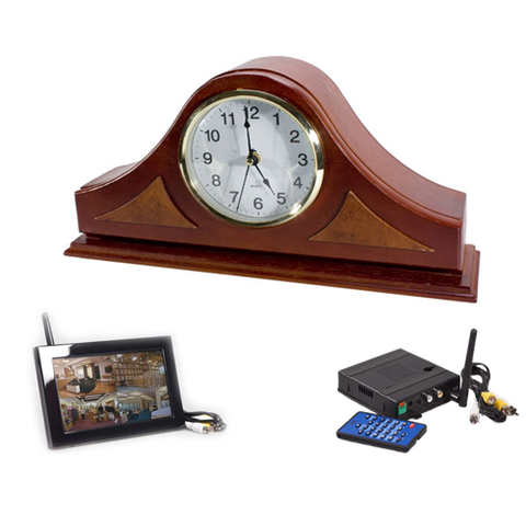 KJB Security Products, Inc. Mantle Clock Wireless Hidden Camera System - Zone Shield Series