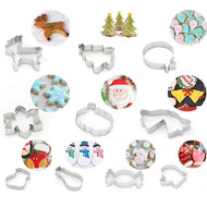 Cookie Cutters - Stainless Steel Holiday themed Cookie Cutters - Perfect for Christmas and New Years - Ignite Shopping
