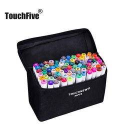 Art Markers by TouchFIVE -  Available in sets of 30/40/60/80/168 with assorted colors - The perfect art supplies for drawing - Ignite Shopping