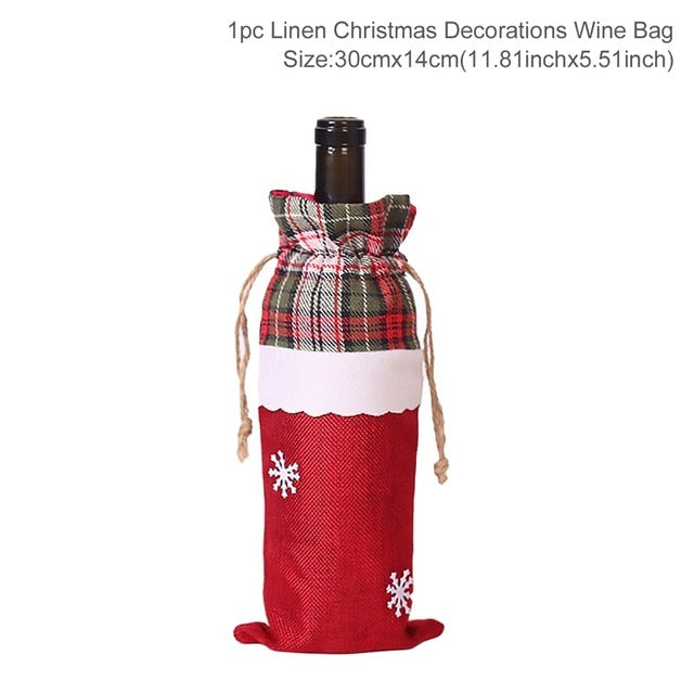 Christmas Wine Bottle Covers -  The perfect Wine Bottle covers for Christmas and New Years - Ignite Shopping