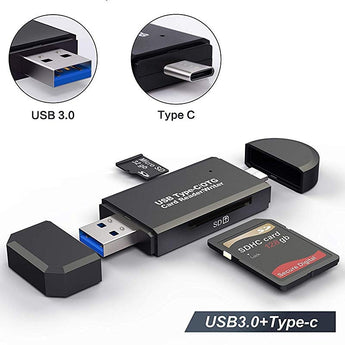 USB 3.0 Universal  Flash Drive + SD Card Reader - The OTG