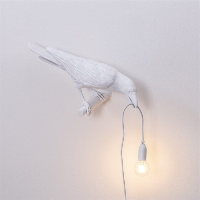 Designer  Lamp - Bird Lamp LED wall lamp with plug in cord - Perfect for your Living Room