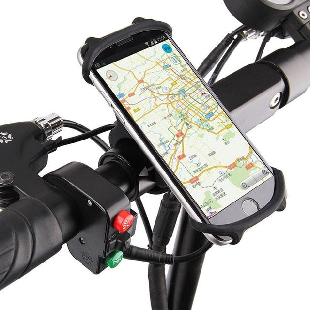 Silicone Universal Bicycle Phone Holder for Smartphones - Ignite Shopping