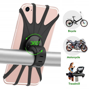 Silicone Universal Bicycle Phone Holder for Smartphones