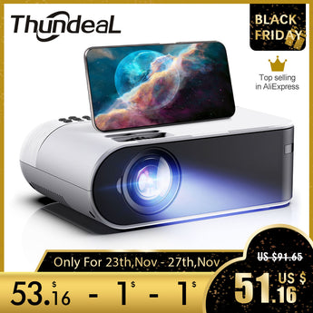 1080P Home Cinema Mini Projector - The ThundeaL TD60 - Ignite Shopping