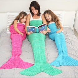 Mermaid tail blanket - Warm acrylic mermaid cover blanket - Comes in assorted flavors (colors) - Ignite Shopping