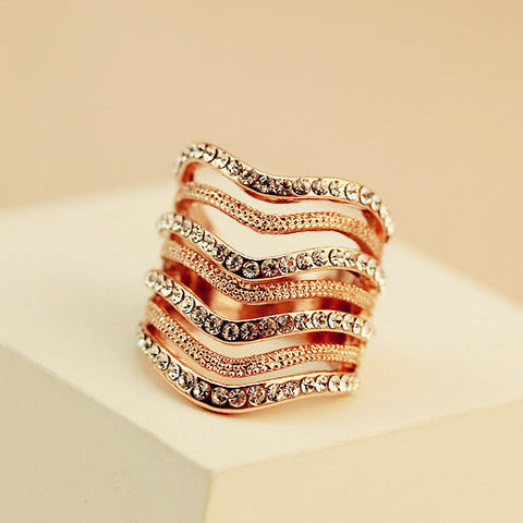 Multi Layer Crystal Ring