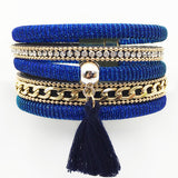 Multilayer Styles Magnetic Clasp Leather Bracelets